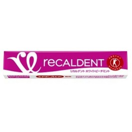 Mondelēz Recaldent White Peach Mint 14 pieces (Pack of 20 / Total 280 pieces)