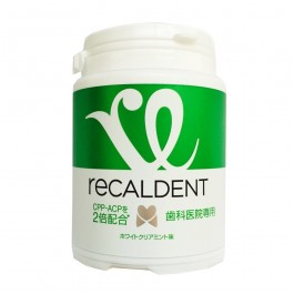 Recaldent White Clear Mint Sugarless Gum Bottle for Dental Clinic (150g)