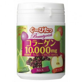 Stop hungry Beauty Rich Collagen gummy Three Assorted2 European pear・Cassis・Apple (90g)