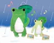 Fumofumo-san Kero-nyo in the rain - Size L / Deep Green