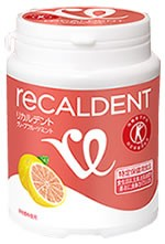 Recaldent Grapefruit mint Sugarless gum grain Bottle LS Gum (150g) 【Tokuho】 Food for Specified Health Uses